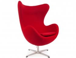 Bild von Stuhl-Design Egg Sessel Arne Jacobsen - Rot