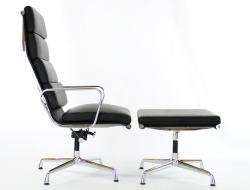 Bild von Stuhl-Design Lounge Stuhl EA222 - Schwarz