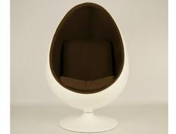 Bild von Stuhl-Design Ovaler Egg Sessel Aarnio - Braun
