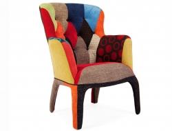 Bild von Stuhl-Design Sessel Henry - Polsterung Patchwork