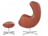Bild von Stuhl-Design Egg Chair & Ottoman Arne COSYSEN - Cognac