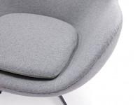 Bild von Stuhl-Design Egg Chair & Ottoman Arne COSYSEN - Lichtgrau