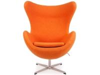 Bild von Stuhl-Design Egg Sessel Arne Jacobsen - Orange