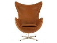 Bild von Stuhl-Design Egg Sessel Arne Jacobsen - Schokoladenbraun