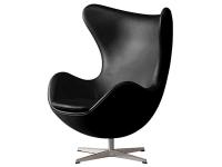 Bild von Stuhl-Design Egg Sessel Arne Jacobsen - Schwarz
