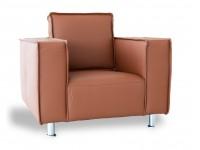 Bild von Stuhl-Design Sessel Poleric - Karamell