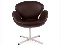 Bild von Stuhl-Design Swan Chair Arne Jacobsen - Braun