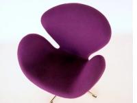 Bild von Stuhl-Design Swan Sessel Arne Jacobsen - Lila