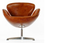 Bild von Stuhl-Design Swan Sessel Arne Jacobsen - Vintage-Braun
