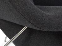 Bild von Stuhl-Design Womb Sessel - Dunkelgrau