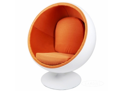 Bild von Stuhl-Design Ball Sessel Eero Aarnio - Orange