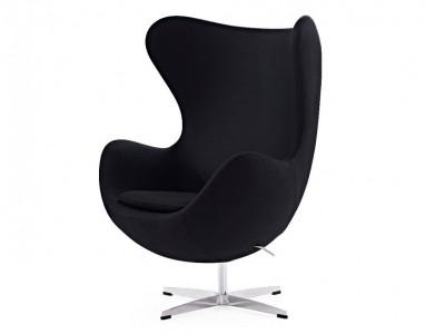 Bild von Stuhl-Design Egg Chair & Ottoman Arne Jacobsen - Schwarz