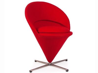 Bild von Stuhl-Design Panton Cone Sessel  - Rot