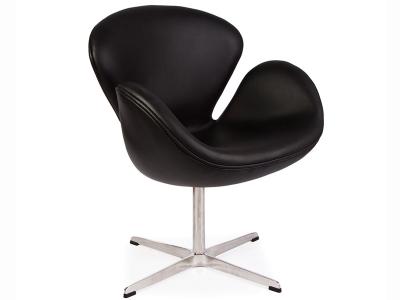 Bild von Stuhl-Design Swan Sessel Arne Jacobsen - Schwartz