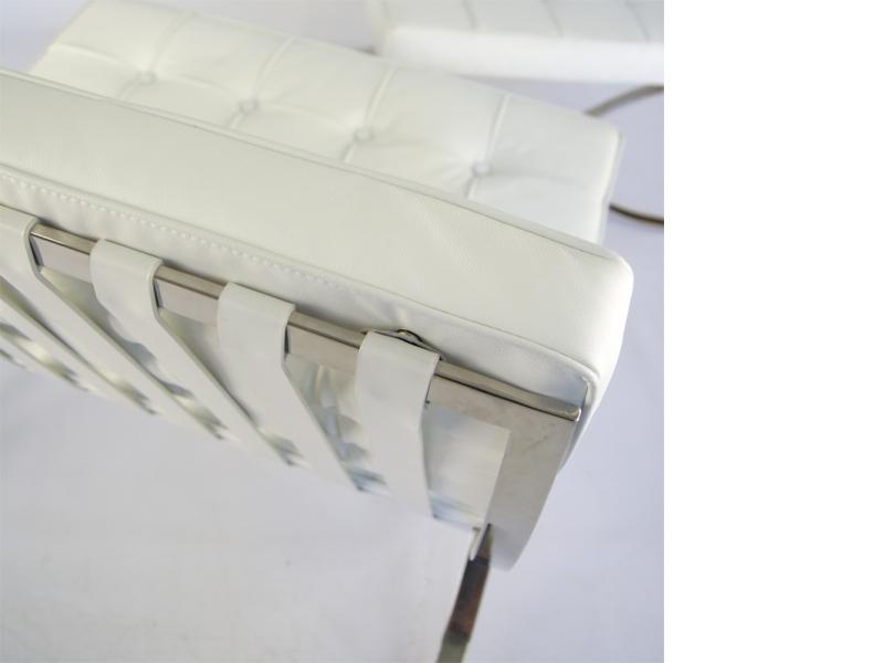 Bild von Stuhl-Design Barcelona Chair - Schneeweiß