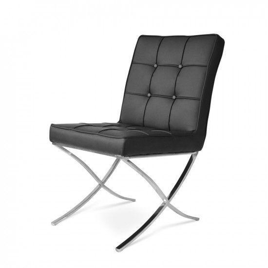 Bild von Stuhl-Design Barcelona Dining Chairs - Schwarz (2 Stühle)
