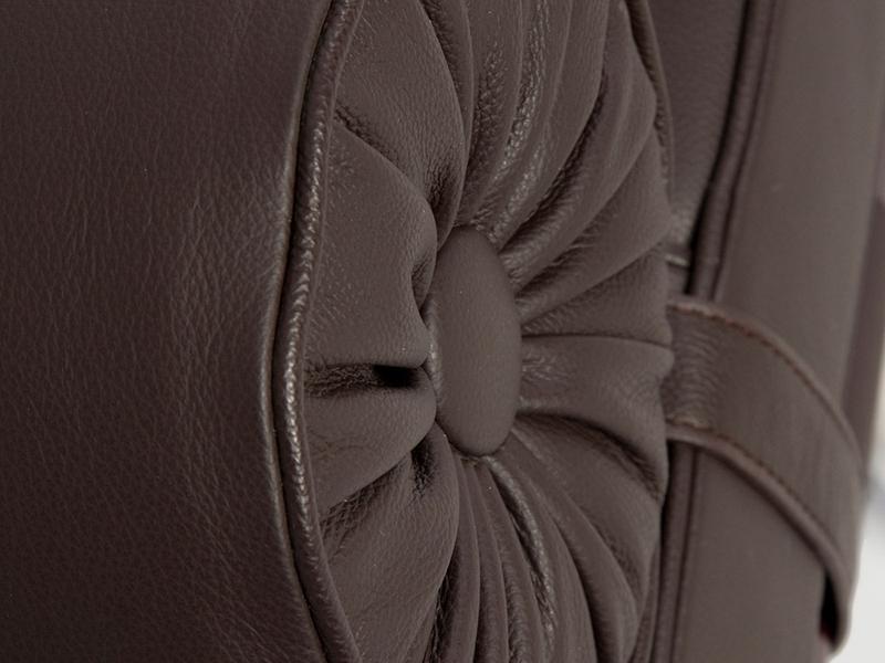 Bild von Stuhl-Design Barcelona Liege 195 cm - Dunkelbraun