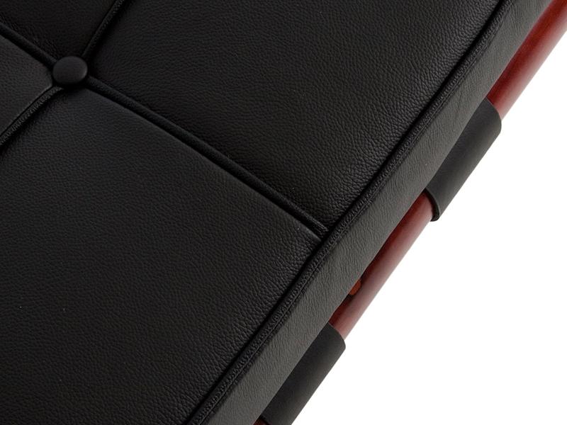 Bild von Stuhl-Design Barcelona Liege 195 cm - Schwarz