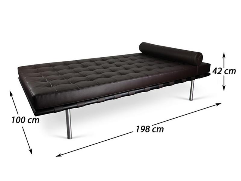 barcelona liege 198 cm dunkelbraun. Black Bedroom Furniture Sets. Home Design Ideas