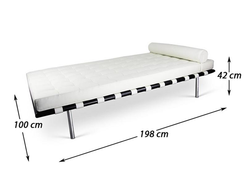 Bild von Stuhl-Design Barcelona Liege 198 cm - Weiß