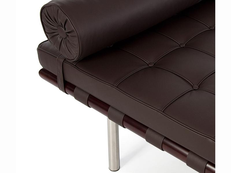 Bild von Stuhl-Design Barcelona Liege 200 cm - Dunkel braun