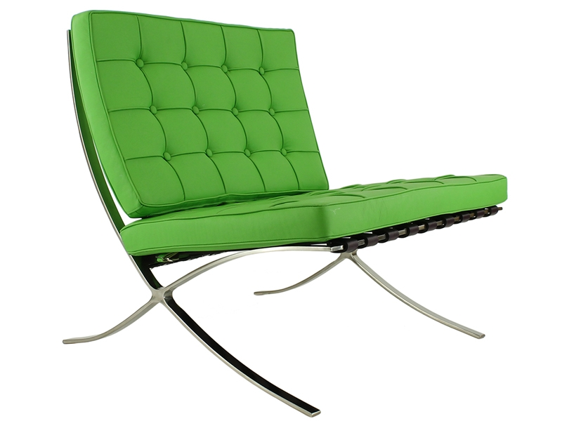 barcelona sessel apfelgr n. Black Bedroom Furniture Sets. Home Design Ideas