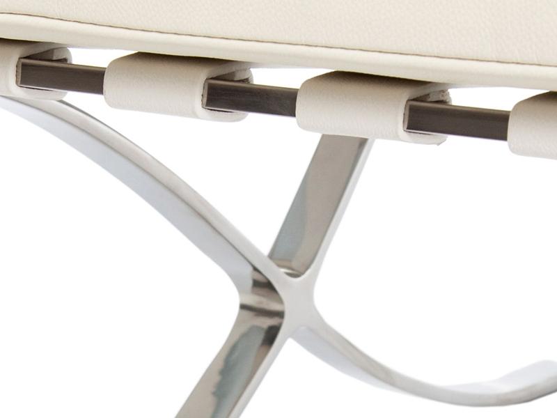 Bild von Stuhl-Design Barcelona Sessel - Cremeweiß