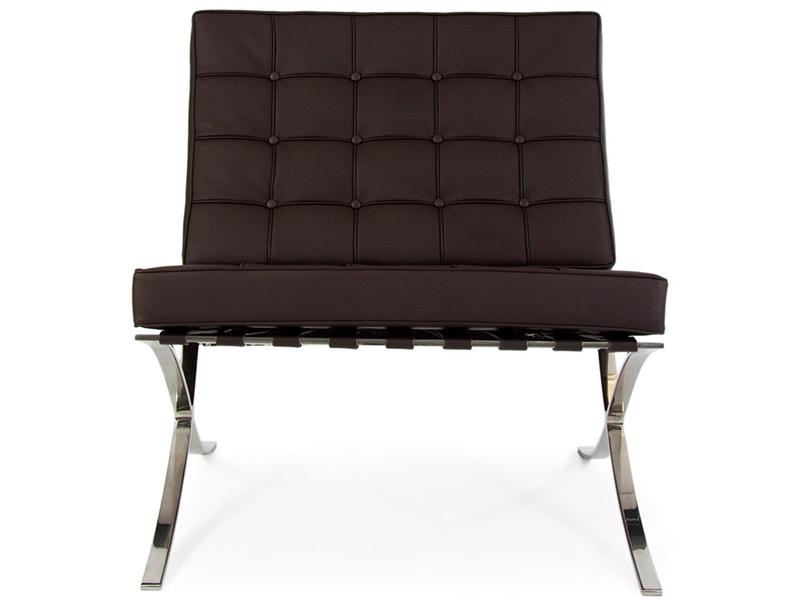 barcelona sessel dunkel braun. Black Bedroom Furniture Sets. Home Design Ideas