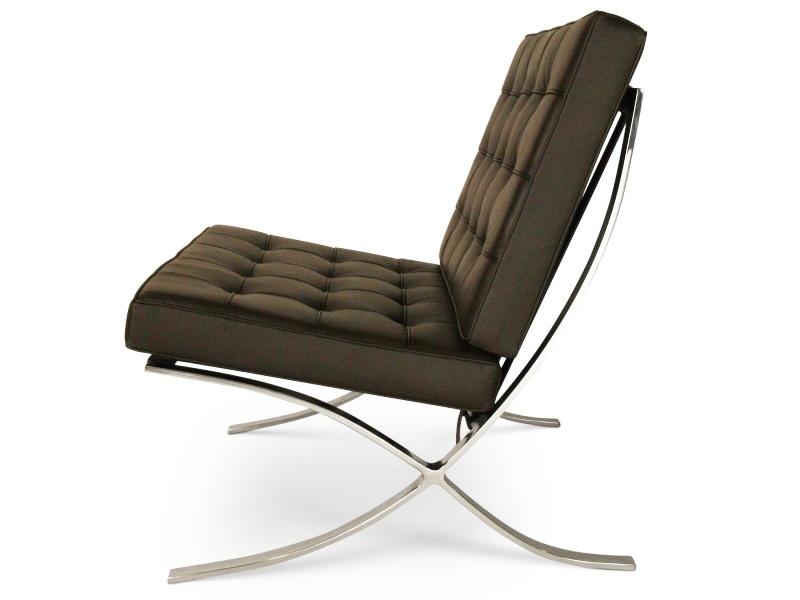 barcelona sessel dunkelbraun. Black Bedroom Furniture Sets. Home Design Ideas