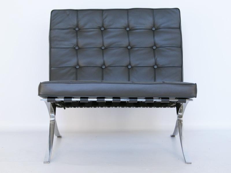 Bild von Stuhl-Design Barcelona Sessel - Dunkelgrau