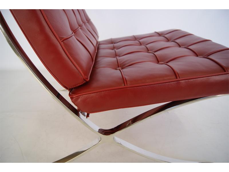 Bild von Stuhl-Design Barcelona Sessel - Dunkelrot