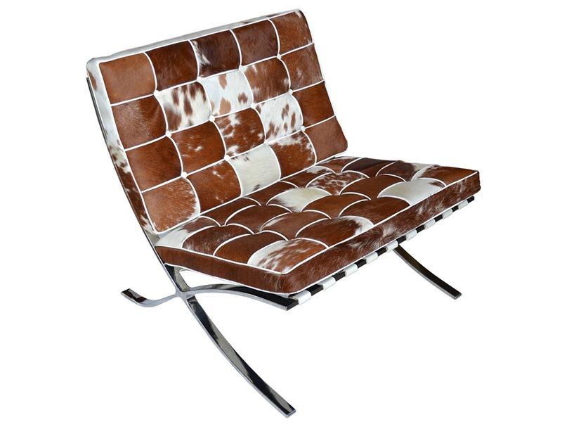 Bild von Stuhl-Design Barcelona Sessel Pony - Braun & Weiß