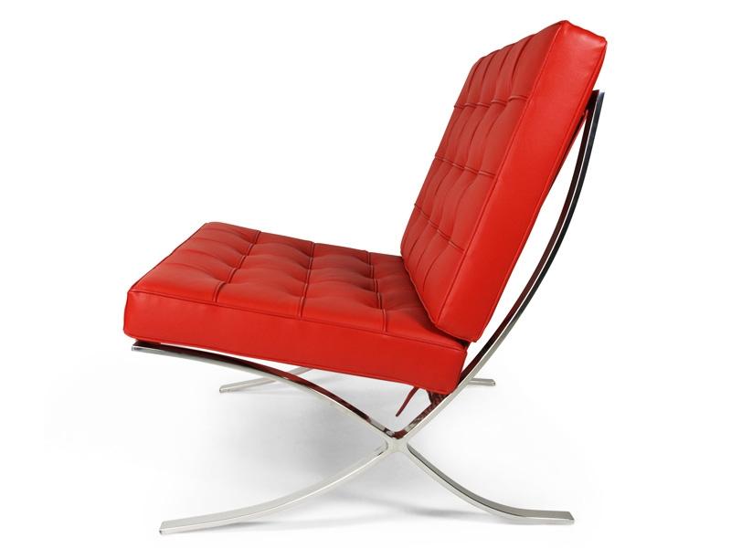 Bild von Stuhl-Design Barcelona Sessel - Rot