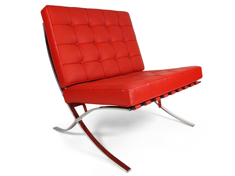barcelona sessel rot. Black Bedroom Furniture Sets. Home Design Ideas