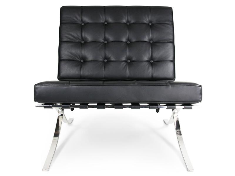 jetzt barcelona sessel in schwarz als reproduktion bestellen. Black Bedroom Furniture Sets. Home Design Ideas