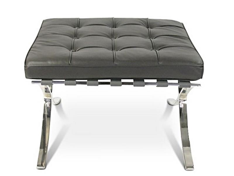 Bild von Stuhl-Design Barcelona Sessel und ottoman - Dunkelgrau