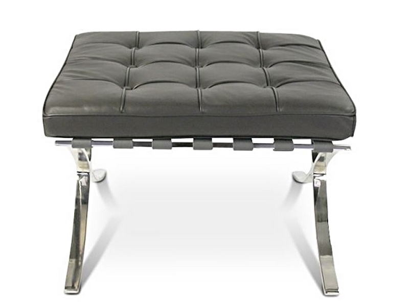 barcelona sessel und ottoman dunkelgrau. Black Bedroom Furniture Sets. Home Design Ideas