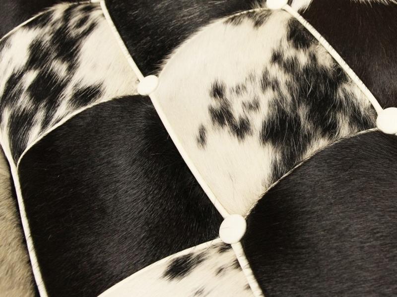 Bild von Stuhl-Design Barcelona Sessel und ottoman - Schwarz & Weiß