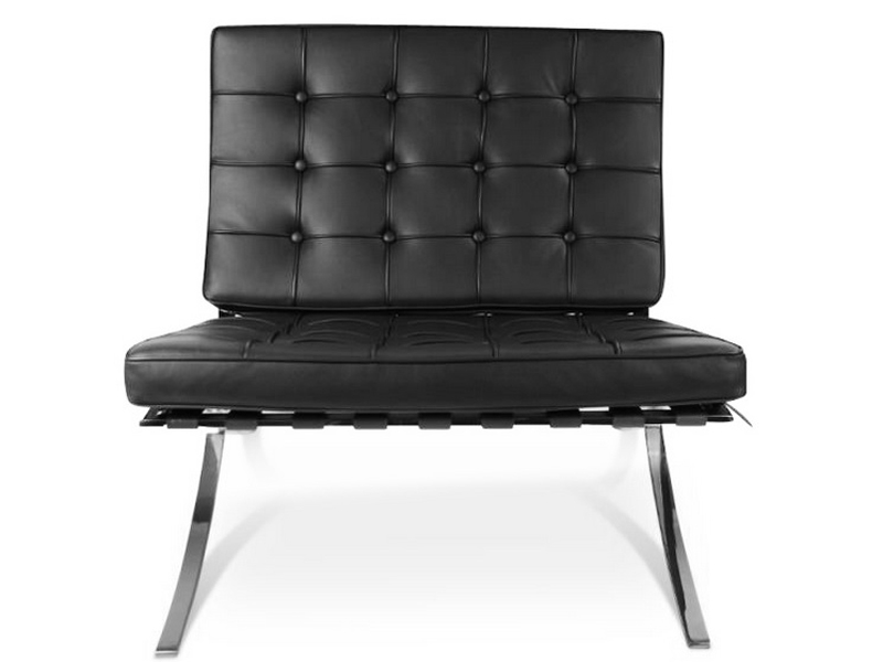 barcelona sessel und ottoman schwarz. Black Bedroom Furniture Sets. Home Design Ideas