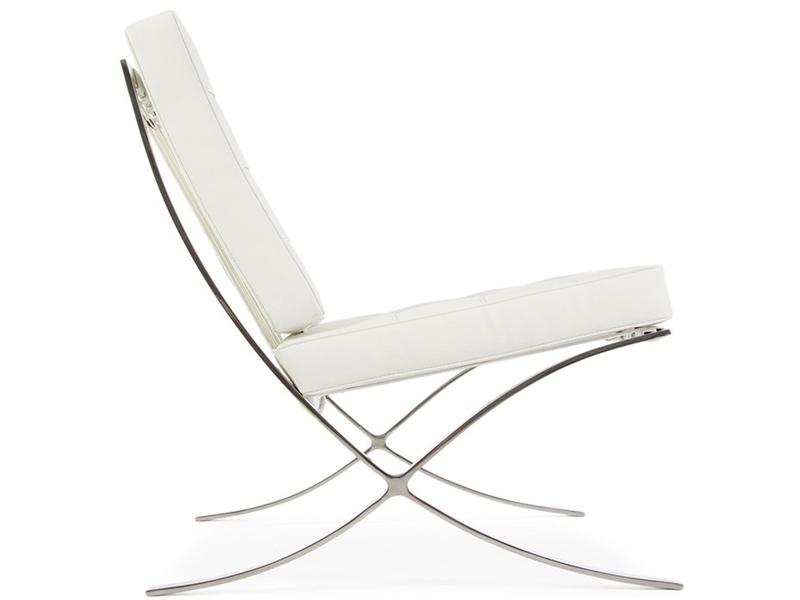 Bild von Stuhl-Design Barcelona Sessel - Weiß