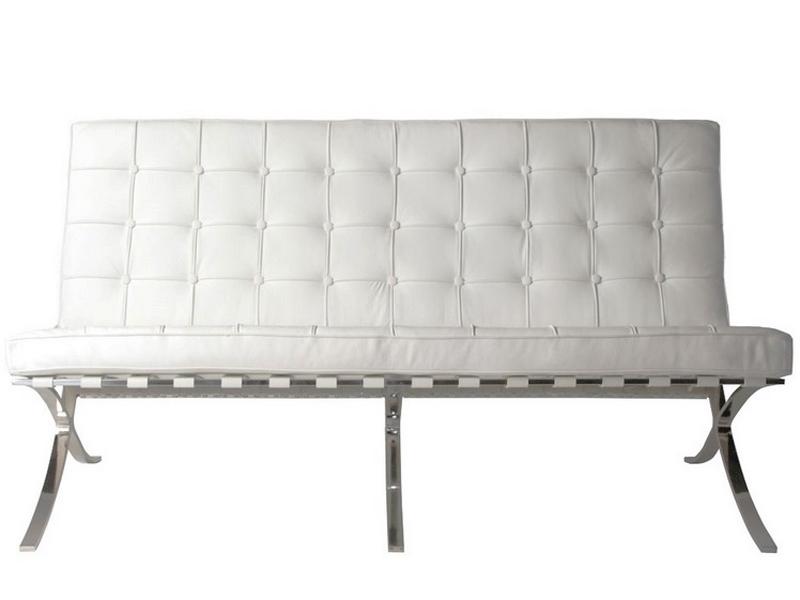 Bild von Stuhl-Design Barcelona Sofa 2 Sitzer - Kreme Weiß