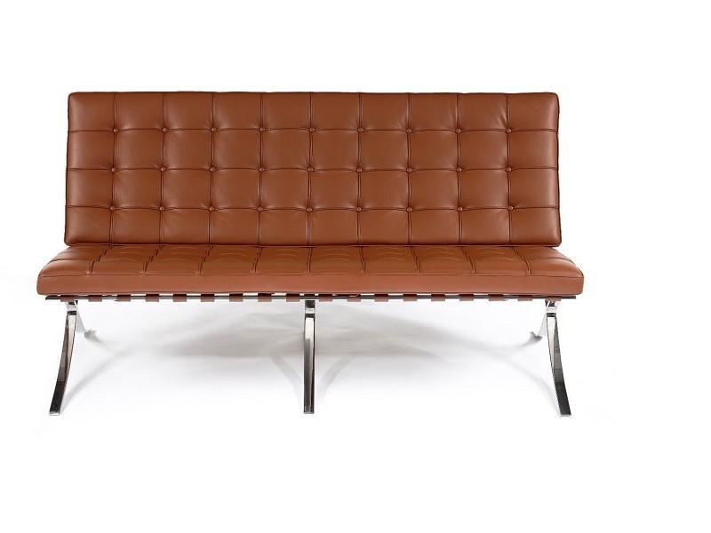 Bild von Stuhl-Design Barcelona Sofa 2 Sitzer - Premium Cognac