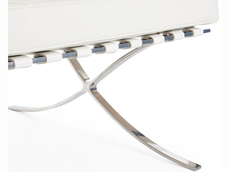 Bild von Stuhl-Design Barcelona Sofa 2 Sitzer - Weiß