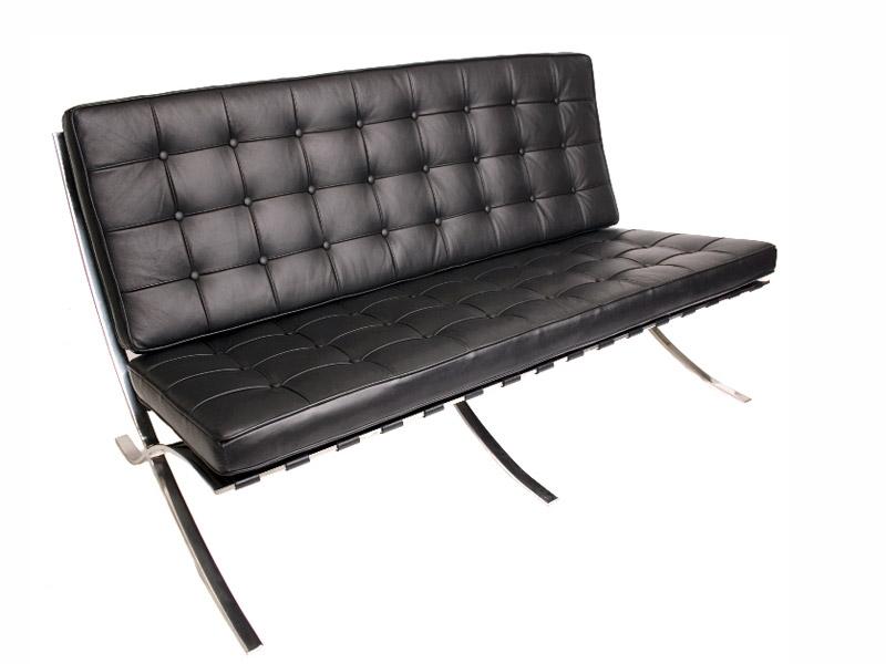 Barcelona Sofa - 3 Sitzer - Schwarz