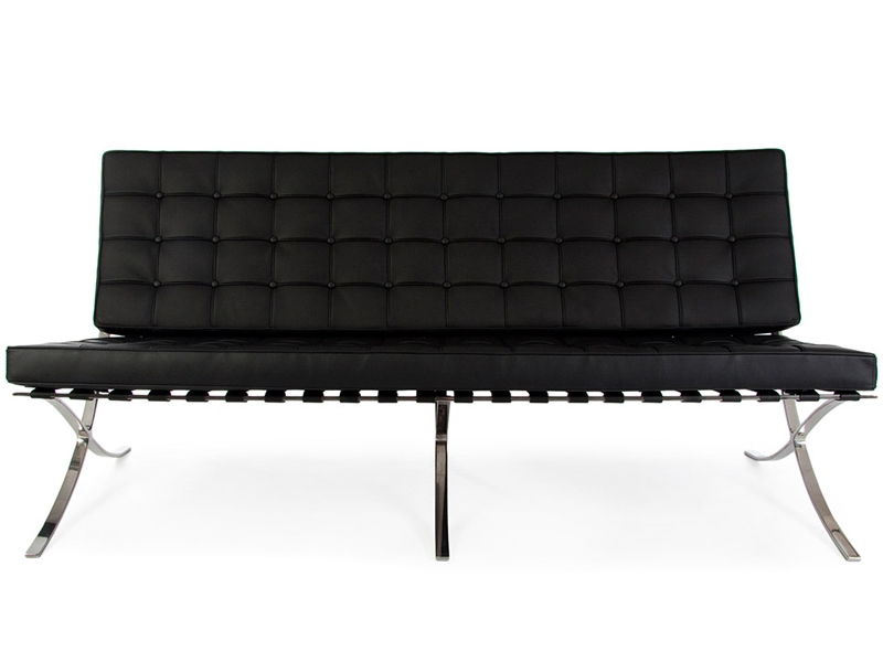 Bild von Stuhl-Design Barcelona Sofa 3 Sitzer - Schwarz