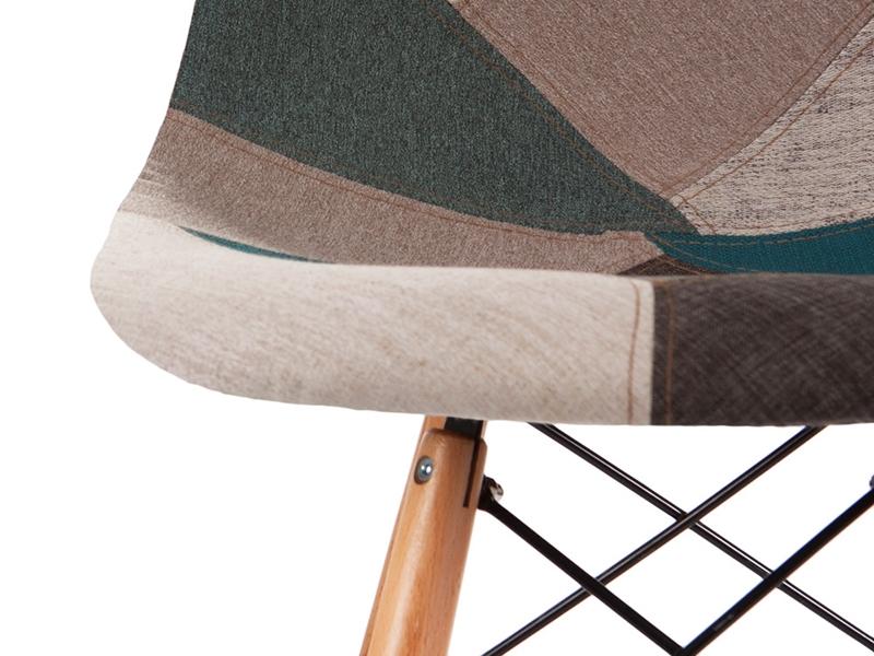 Bild von Stuhl-Design Barstuhl DSB - Blau Patchwork
