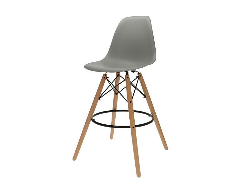 Bild von Stuhl-Design Barstuhl DSB - Grau