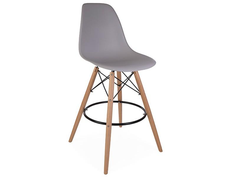 Bild von Stuhl-Design Barstuhl DSB - Mausgrau