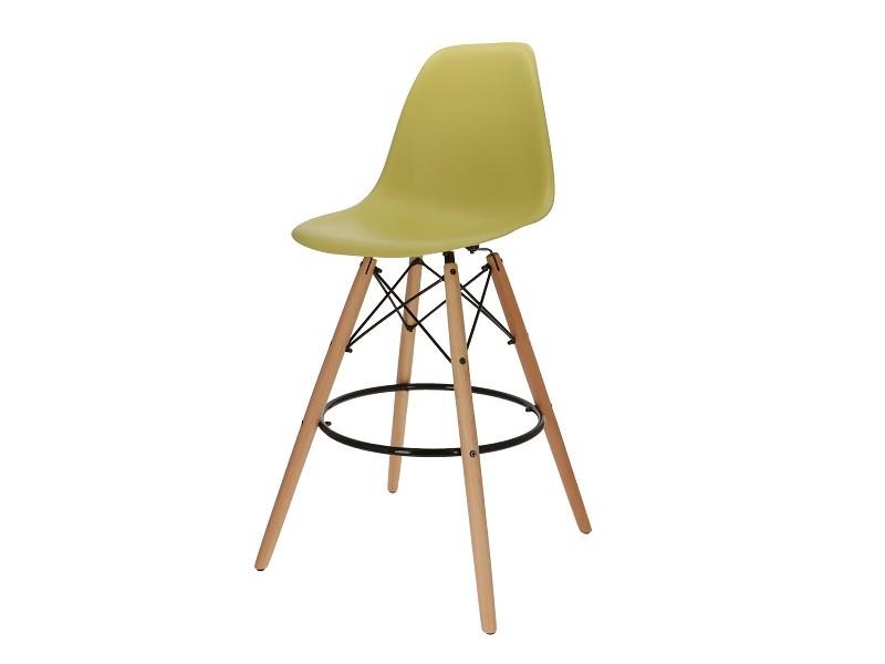 Bild von Stuhl-Design Barstuhl DSB - Olivgrün