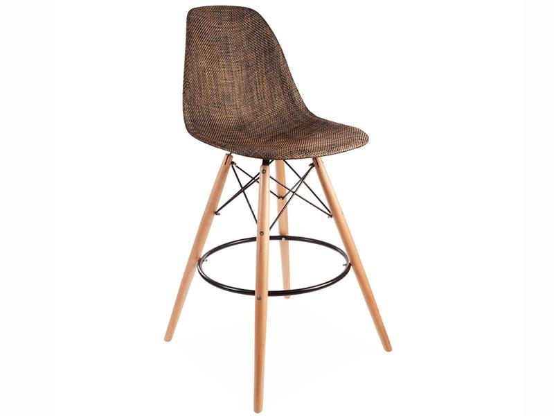 Bild von Stuhl-Design Barstuhl DSB Textur - Kakao